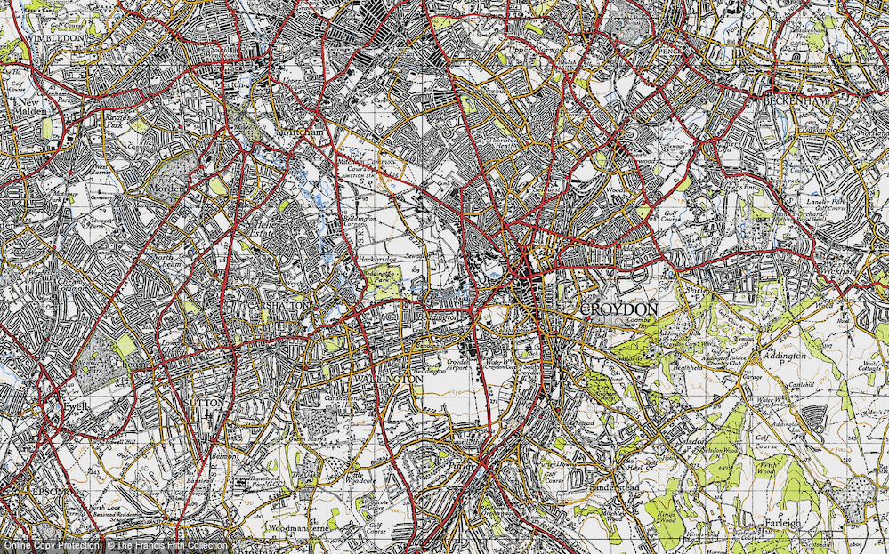 Old Map of Beddington, 1945 in 1945
