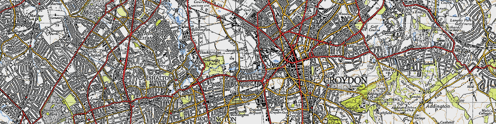 Old map of Beddington in 1945