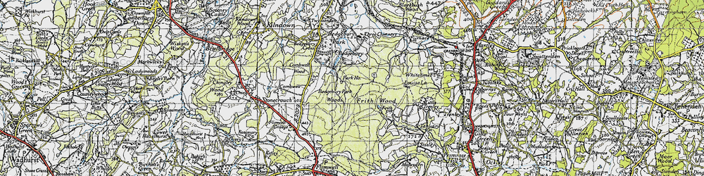 Old map of Bedgebury in 1940