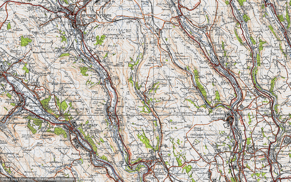 Old Map of Bedlinog, 1947 in 1947