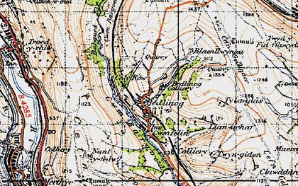Old map of Bedlinog in 1947