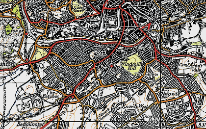 Old map of Bedminster in 1946