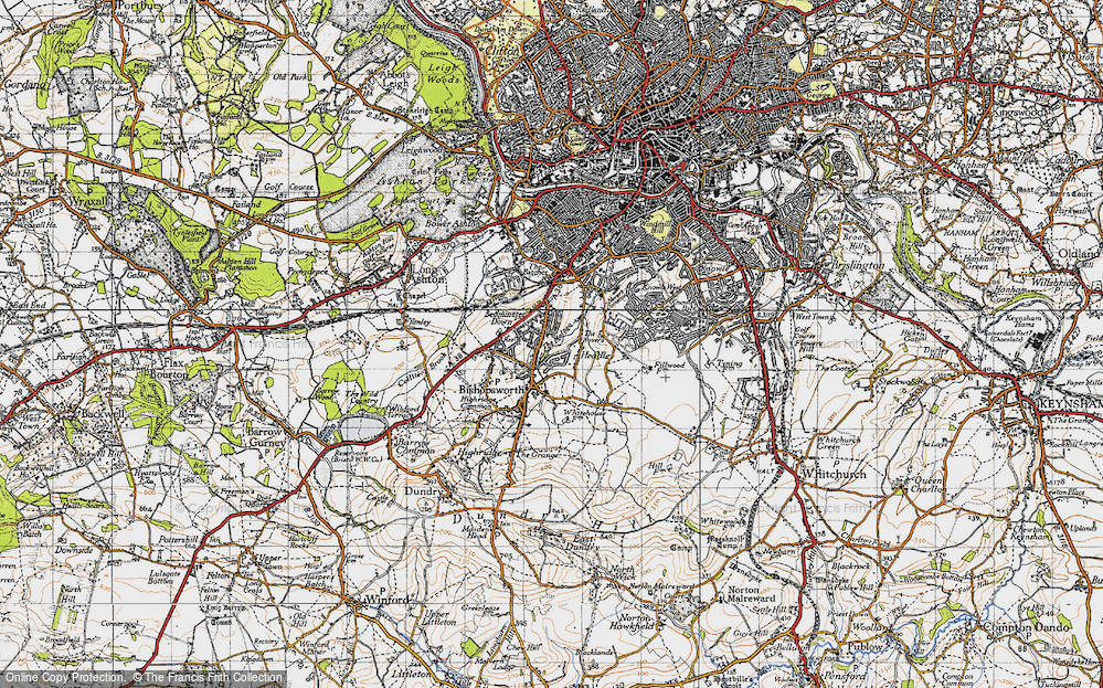 Old Map of Bedminster Down, 1946 in 1946