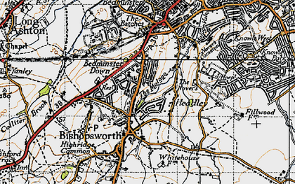 Old map of Bedminster Down in 1946