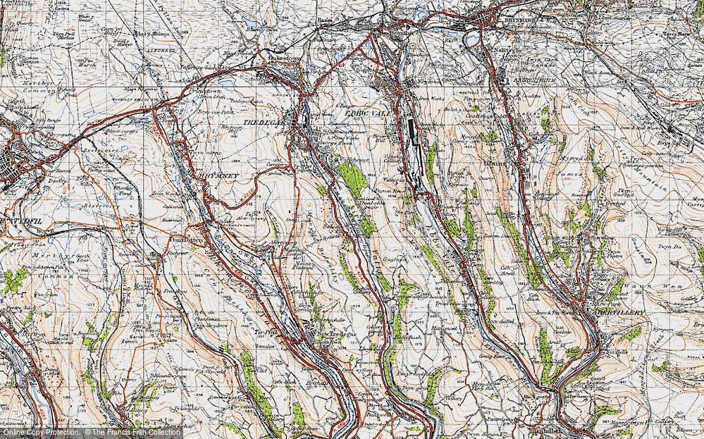 Old Map of Bedwellty Pits, 1947 in 1947