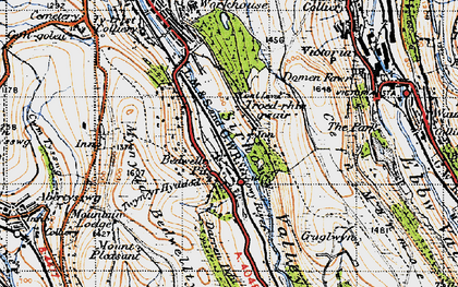 Old map of Bedwellty Pits in 1947