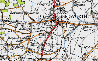 Old map of Bedworth in 1946