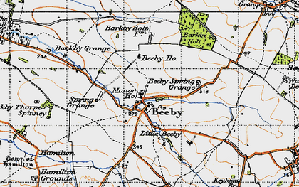Old map of Beeby in 1946