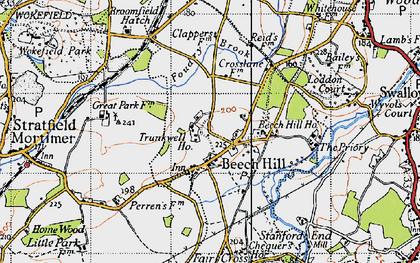 Old map of Beech Hill in 1940