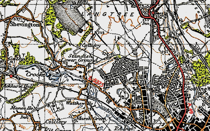 Old map of Beech Hill in 1947