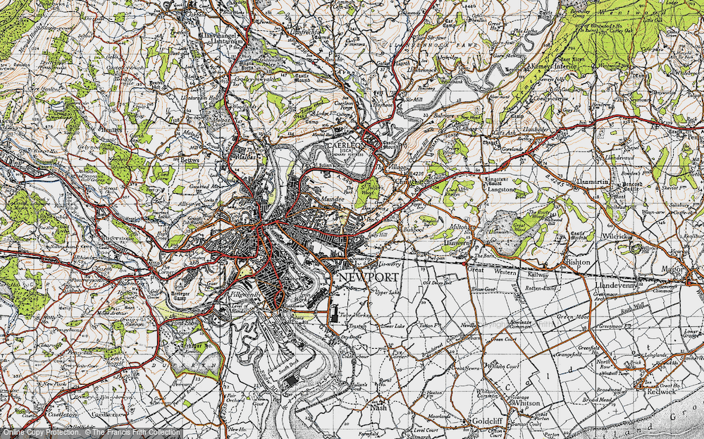 Old Map of Beechwood, 1946 in 1946
