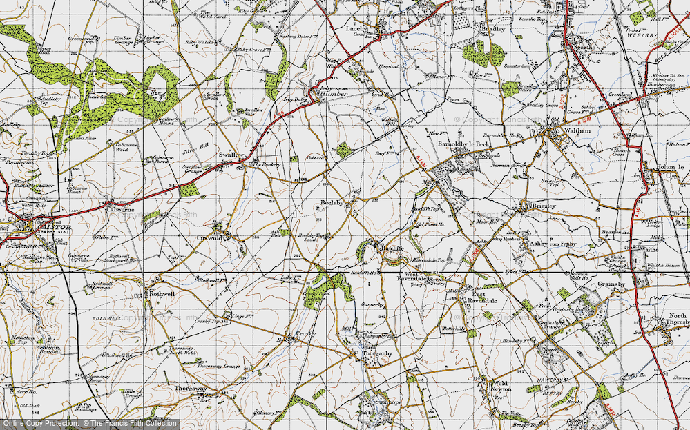 Old Map of Beelsby, 1946 in 1946