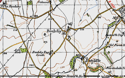Old map of Beelsby in 1946