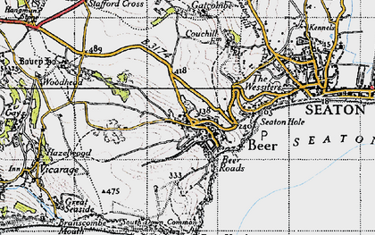 Old map of Beer in 1946