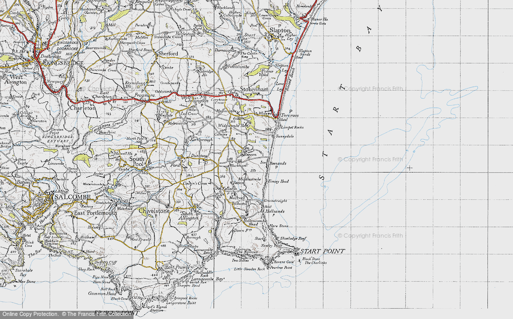 Old Map of Beesands, 1946 in 1946