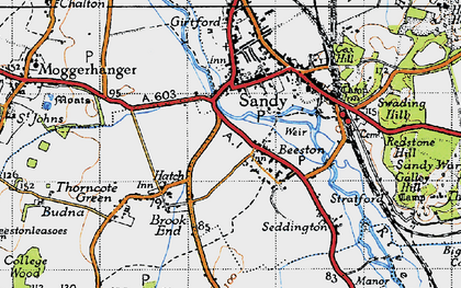 Old map of Beeston in 1946