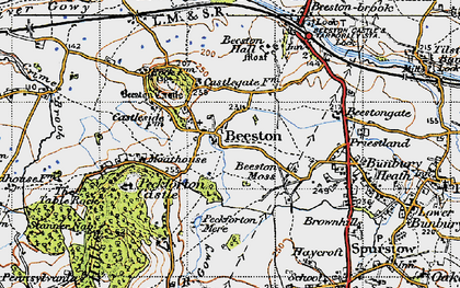 Old map of Beeston in 1947