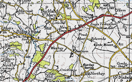 Old map of Beetham in 1946