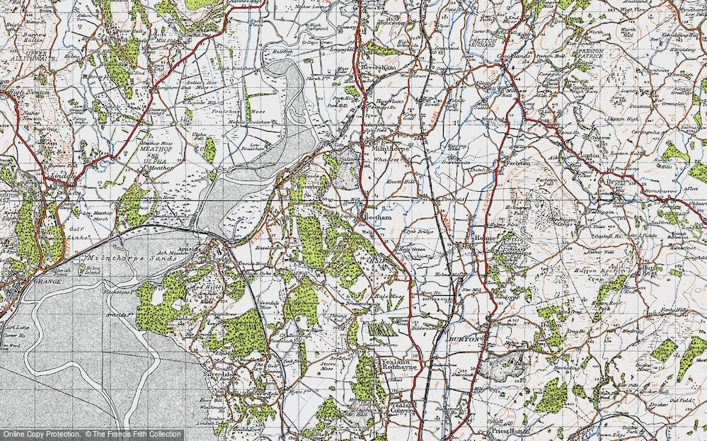 Old Map of Beetham, 1947 in 1947