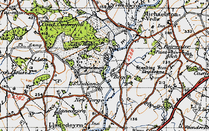 Old map of Began in 1947