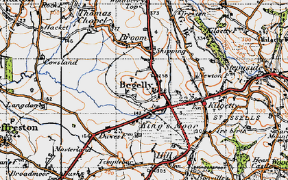 Old map of Begelly in 1946