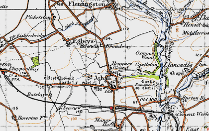 Old map of Beggars Pound in 1947