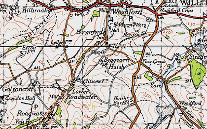 Old map of Beggearn Huish in 1946