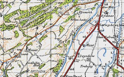 Old map of Belan in 1947