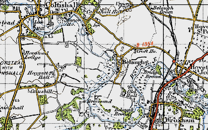 Old map of Belaugh in 1945