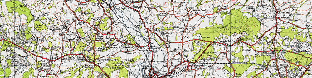 Old map of Abbotswood in 1945