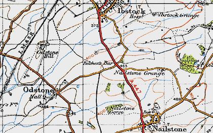 Old map of Belcher's Bar in 1946