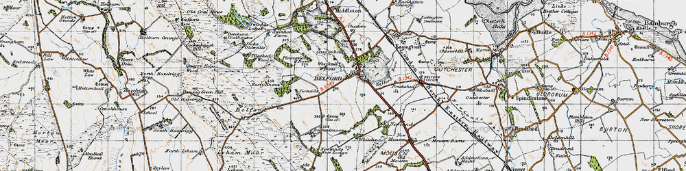 Old map of Whitelee in 1947