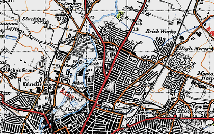 Old map of Belgrave in 1946