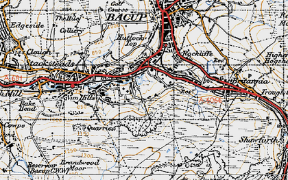 Old map of Belgrave in 1947