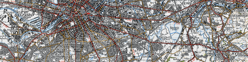 Old map of Belle Vue in 1947