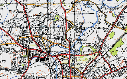 Old map of Bellfields in 1940