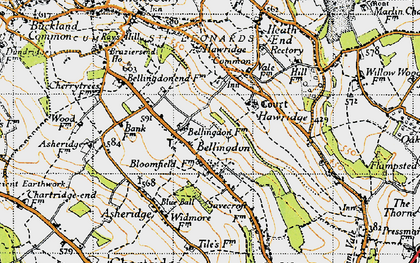 Old map of Bellingdon in 1946