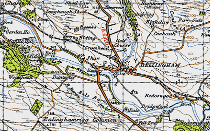 Old map of Bellingham in 1947