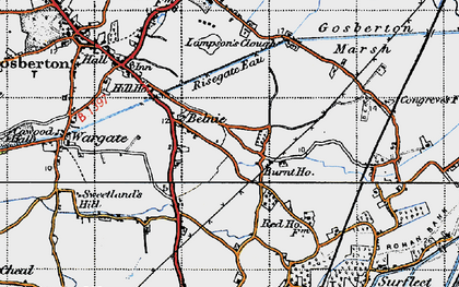 Old map of Belnie in 1946