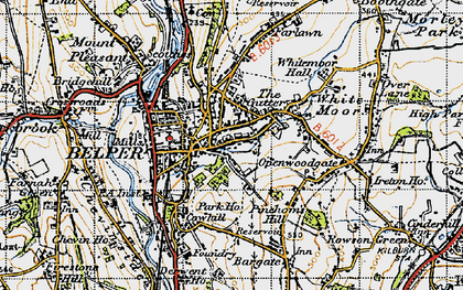 Old map of Belper in 1946