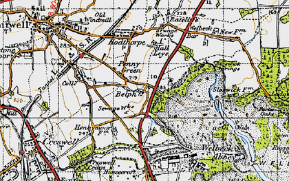 Old map of Belph in 1947