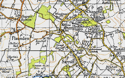 Old map of Belsize in 1946
