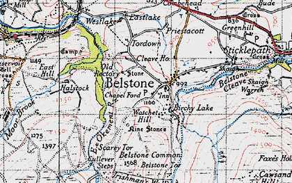 Old map of Westlake in 1946