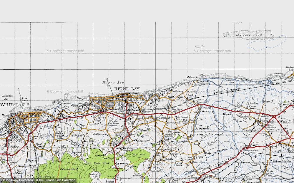 Old Map of Beltinge, 1947 in 1947