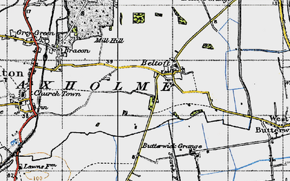 Old map of Beltoft in 1947