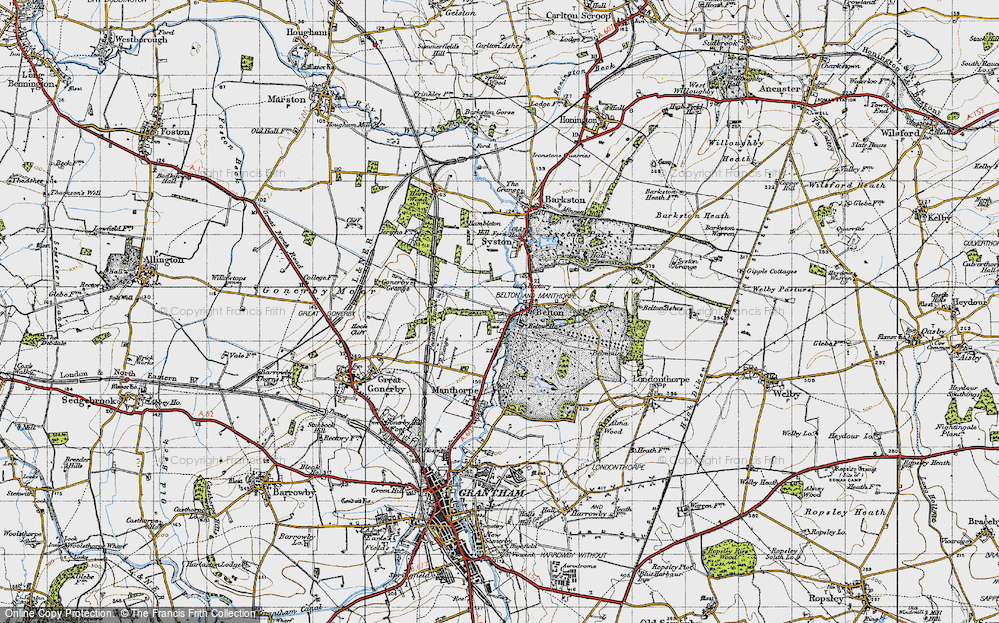 Old Map of Belton, 1946 in 1946