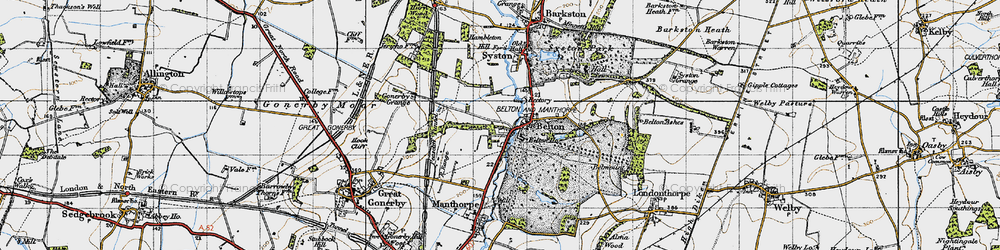 Old map of Belton in 1946