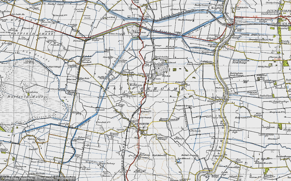 Old Map of Belton, 1947 in 1947