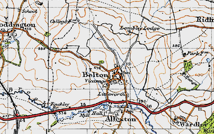 Old map of Belton-in-Rutland in 1946