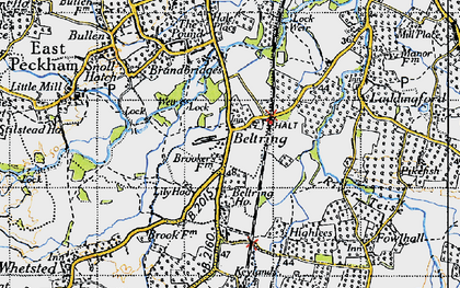 Old map of Lily Hoo in 1946